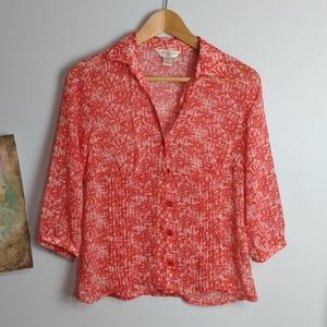 Christopher and Banks Blouse Petite Small